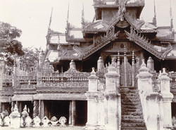Carving on railing on east side of [Taik Taw] monastery, [Mandalay]